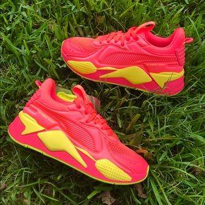 Puma RS-X Soft Case Pink Yellow Alert Running Shoe